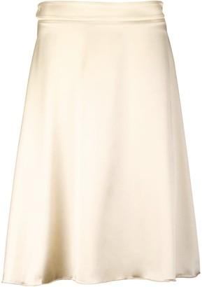 Utmon Es Pour Paris Silk Skirt Gold