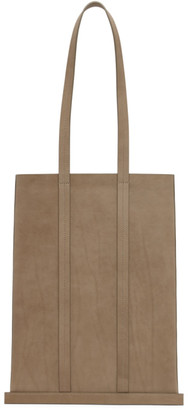 Building Block Taupe Leather Line Tote