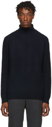 Wooyoungmi Navy Cashmere Turtleneck