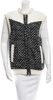 IRO Leather-Trimmed Woven Vest