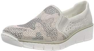 Rieker Women's 537T1 Loafers, Grey (Fog 40)