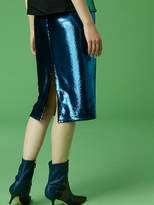 Diane von Furstenberg Midi Pencil Skirt Sequin