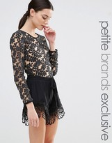 True Decadence Petite Embellished Lace Body