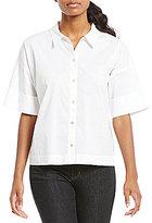 Eileen Fisher Elbow Sleeve Boxy Shirt