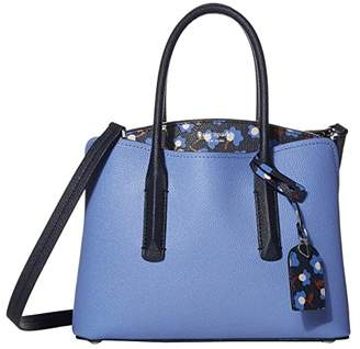 Kate Spade Margaux Party Floral Medium Satchel (Forget-Me-Not Multi) Bags