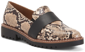 Snake Print Casual Slip On Flats