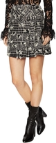 Anna Sui Women's Tweed Houndstooth Belted Mini Skirt