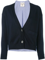 Semi-Couture Semicouture - stripe back cardigan - women - Cotton - M