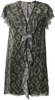 Karl Lagerfeld snake print ruffle dress