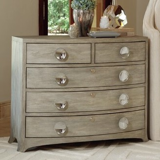 Global Views Bow Front 5 Drawer Dresser Color: Gray