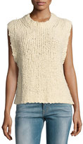 Current/Elliott The Cotton Sweater Vest, Ecru