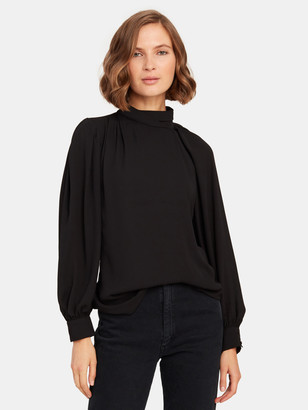 Krisa Drape Neck Cutout Top