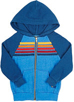 Aviator Nation Stripe-Appliquéd Hoodie-BLUE