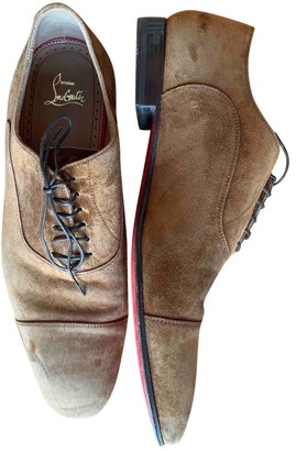 Christian Louboutin Camel Suede Lace ups
