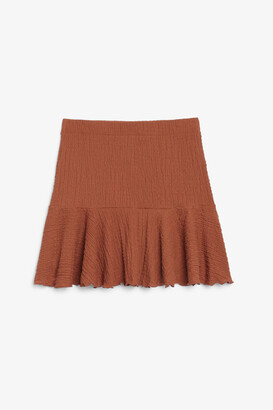 Monki Crinkled mini skirt