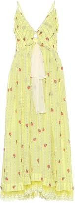 Chloé Silk-blend muslin midi dress
