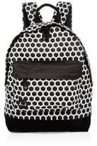 River Island MensBlack Mi-Pac honeycomb print backpack