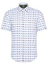 Hugo Boss Balduino Slim Fit, Cotton Button Down Shirt L White