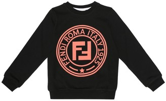 Fendi Kids Logo cotton sweatshirt