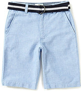 Class Club Big Boys 8-20 Belted Oxford Shorts