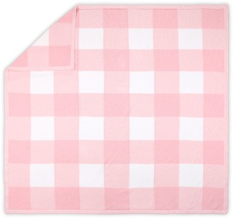 The Peanut Shell Farmhouse Pink Checkered Blanket