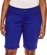ST. JOHN'S BAY St. John's Bay Denim Bermuda Shorts-Plus