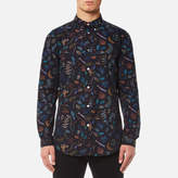 Ps By Paul Smith All Over Print Long Sleeve Shirt Black