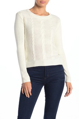 Love by Design Cable Knit Pullover Sweater