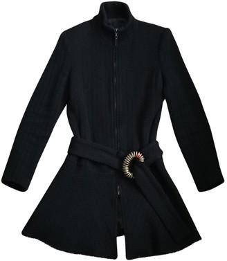 Just Cavalli Black Wool Coat for Women