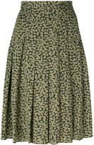 MICHAEL Michael Kors embroidered pleated skirt - women - Silk/Polyester - 4