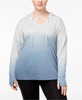 Ideology Plus Size Dip-Dyed Hoodie, Created for Macy's