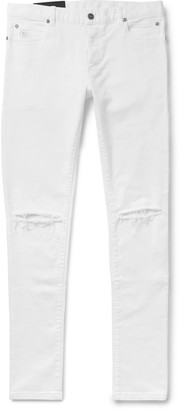 Balmain Skinny-Fit Distressed Stretch-Denim Jeans