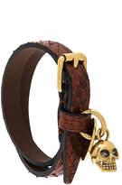 Alexander McQueen double wrap skull bracelet bracelet