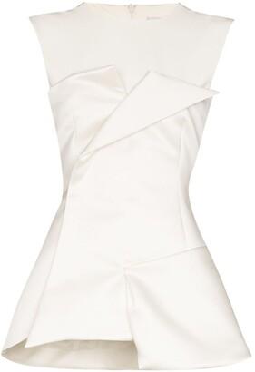 A.W.A.K.E. Mode Tuxedo corseted sleeveless top