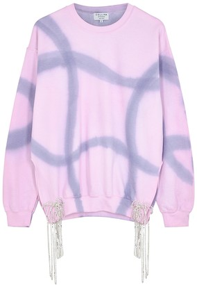 Collina Strada Curtain Tie-dyed Embellished Jersey Sweatshirt