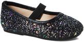 Zula Shoes Girls' Ballet Flats BLACK - Black Glitter Sequin Flat - Girls