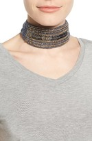 Steve Madden Women's Embellished Bandanna Choker