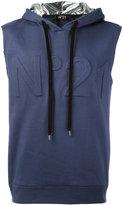 No.21 sleeveless hoodie