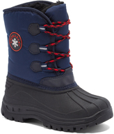 Blue & Red Lace-Up Snow Boot