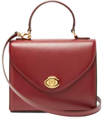 Mark Cross Valentina Monogram Leather Handbag - Womens - Burgundy
