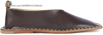 Jil Sander Studded Leather Flats