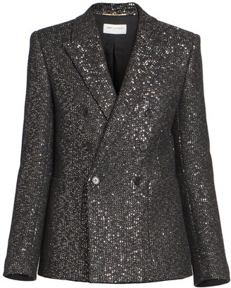 Saint Laurent Pailette Tweed Jacket