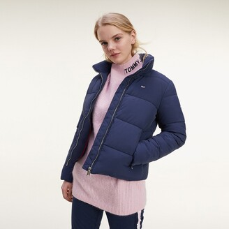 Tommy Jeans Recycled Short Puffer Jacket with High-Neck