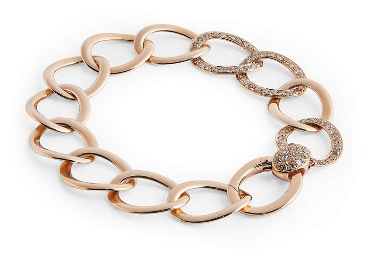 Pomellato Rose Gold and Brown Diamond Brera Bracelet