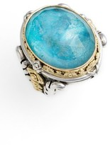 Konstantino Women's 'Iliada' Large Oval Semiprecious Stone Ring