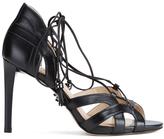 MICHAEL Michael Kors Women's Mirabel Leather High Heeled Sandals Black