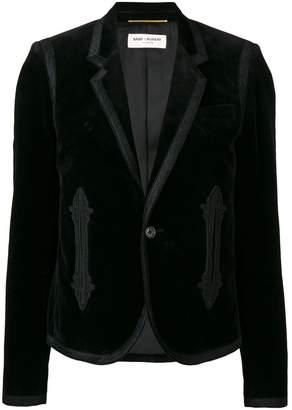 Saint Laurent embroidered blazer