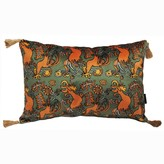 Laura Beirne Interiors The Country Chicken Green Rectangle Cushion