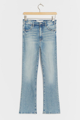 Mother The Hustler High-Rise Straight Ankle Jeans By in Blue Size 25