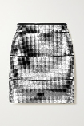 Fannie Schiavoni Rosa Crystal-embellished Satin Mini Skirt - Silver